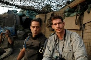 """Restrepo"" filmmakers Sebastian Junger and Tim Hetherington."