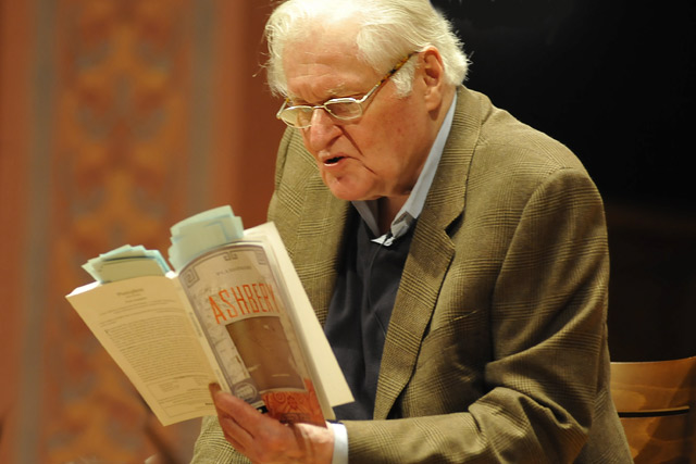 John Ashbery, the English Department's 2010 Millett Writing Fellow, read from his poetry book Feb. 17 in Memorial Chapel.