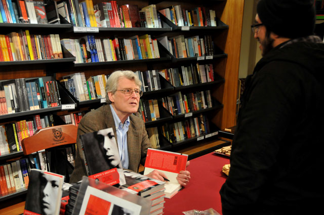 Philip Pomper, the William Armstrong Professor of History, associate editor of History and Theory, signed copies of his new book <em>Lenin's Brother: The Origins of the October Revolution</em> at Broad Street Books Feb. 25.