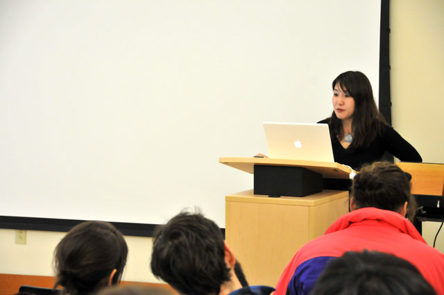 "Miri Nakamura, assistant professor of Asian languages and literatures, spoke on ""The Supernatural Writings of Ueda Akinari,"" Feb. 5 in the Freeman Center for Easy Asian Studies. Ueda Akinari (1734-1809) was a writer, poet, a medical doctor, and a scholar of the nativist movement in Edo period Japan."