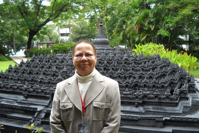 Janice Willis, professor of religion, was one of 20 American religious scholars and nonprofit leaders selected by the U.S. State Department to participate in the U.N.-sponsored, Indonesia-U.S. Interfaith Cooperation Forum, held in Indonesia, Jan. 25-27.