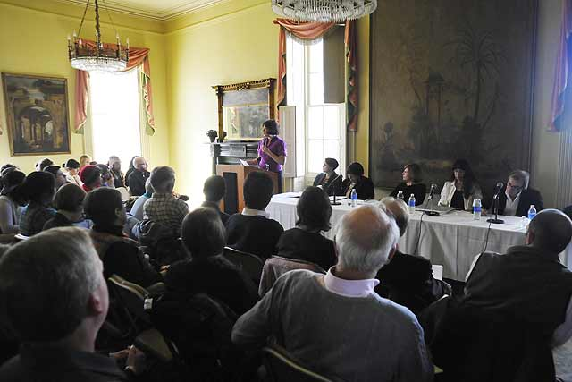 "In honor of the 20th anniversary of the passage of the Native American Graves Protection and Repatriation Act (NAGPRA), the Center for American Studies sponsored an event titled ""Reconsidering Repatriation: Colonial Legacies, Indigenous Politics and Institutional Developments,"" held March 26 in Russell House. The event was held to raise awareness of critical issues regarding NAGPRA compliance in the context of both Wesleyan as an institution of higher learning that is subject to the federal law, and the particular challenges of repatriation in the southern New England region."