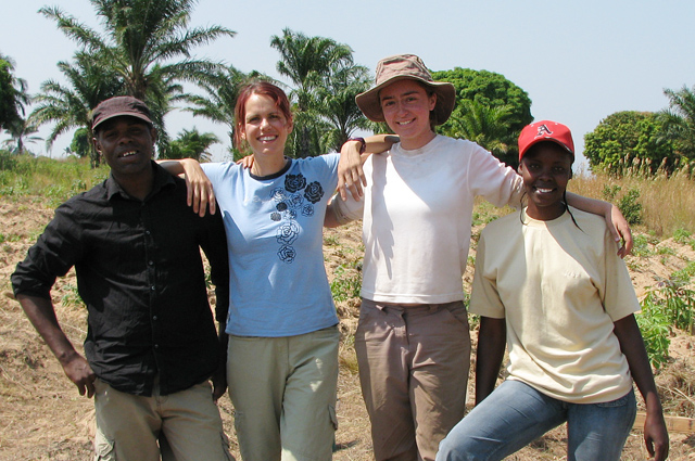 Second from left, Sara Croucher, assistant professor of anthropology, assistant professor of archaeology, assistant professor of feminist, gender and sexuality studies, received a SAR Weatherhead Fellowship to Study Archaeology in 19th Century East Africa. She's pictured here with Rachel Miller-Howard '10, third from left.
