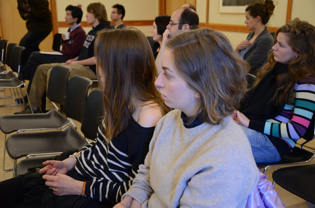 Several students and faculty attended Touchton's talk. The Freeman Center for East Asian Studies offers multiple lectures and programs each month. (Photos by Emily Brackman '11).