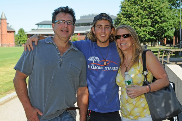 "Joseph ""Max"" Silvester '16 of Glastonbury, Conn. received Arrival Day help from his parents, Paul and Christine."