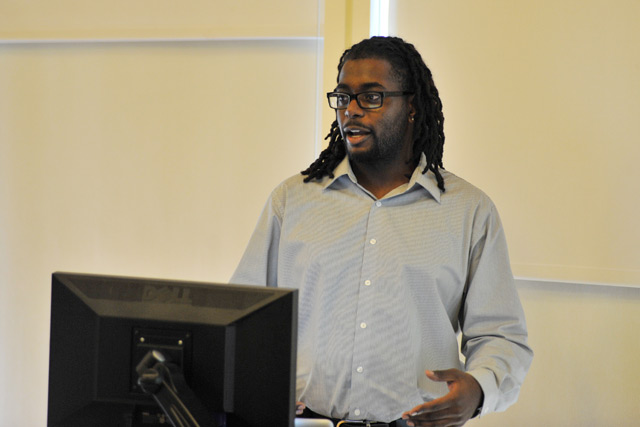 "Kwame Adams '14 studied ""Race Men in the Post Civil Rights Era."""