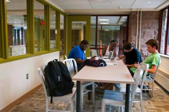 A study break inside the newly-renovated Butterfield Residences on Sept. 4.