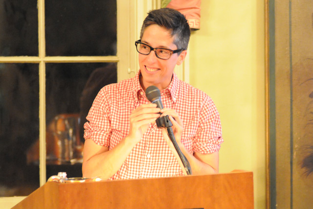 "Cartoonist and author Alison Bechdel, the 2012 Jacob Julien Visiting Writer, spoke in Russell House at Wesleyan on Sept. 19. Her most recent book, released in May 2012, is a graphic novel called ""Are You My Mother?"""