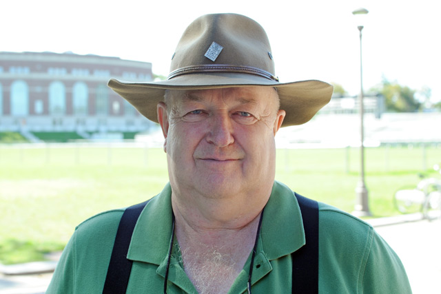 Dave Hall is Wesleyan's grounds and events manager.