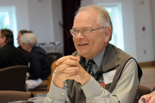 Greg Pyke, senior associate dean of admission, is celebrating 35 years at Wesleyan.