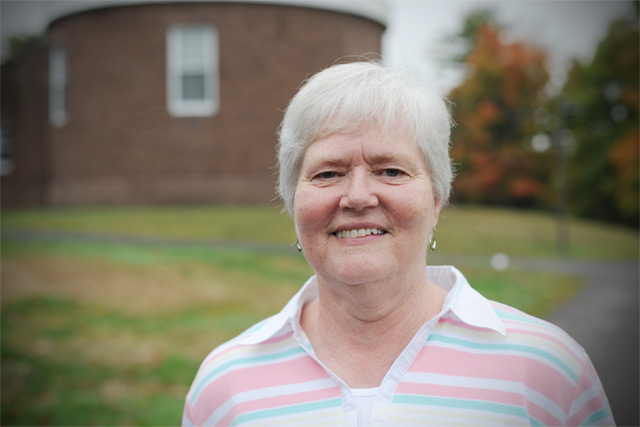 Linda Shettleworth, administrative assistant in the Astronomy Department, started working for Wesleyan in 1980.
