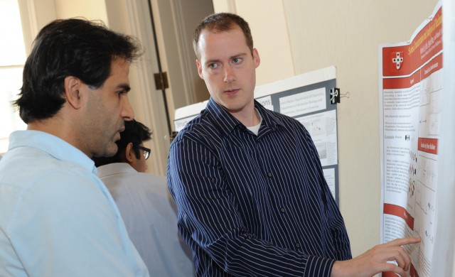 Graduate student Roderick Coffey presented their research on Synthesis, Characterization and Analysis of Mechanically Interlocked Polymers.&quot; Coffey's advisor is Brian Northrop, assistant professor of chemistry.