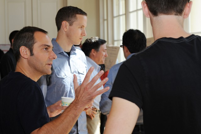 Several Wesleyan faculty attended the retreat and spoke to students about their on-going research.