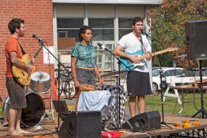 Several student bands performed at Pumpkin Fest.