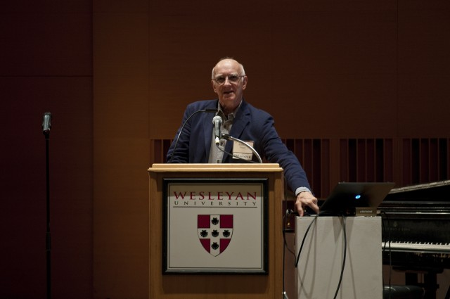 "Ethnomusicologist Anthony Seeger delivered the keynote address Nov. 8 titled, ""Can We Safeguard Disappearing Musical Traditions? And If We Can, Should We?"" Seeger is distinguished professor of ethnomusicology, emeritus, at the UCLA Herb Alpert School of Music and director emeritus of Smithsonian Folkways Recordings at the Smithsonian Institution."