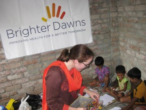 Kimberly Muellers '12 in India.