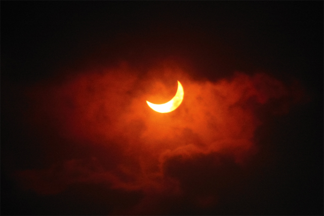 Astronomy graduate student Amy Steele was part of a team from Williams College (her alma mater) that journeyed to northern Australia to observe the Nov. 12 solar eclipse. (Photo contributed by Amy Steele)