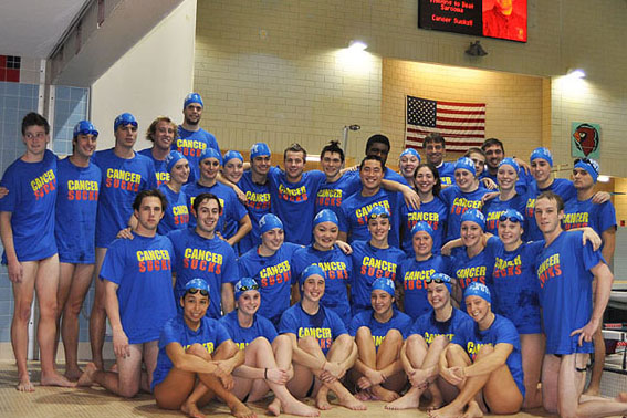 "The ""Hour of Power"" swimming and diving participants."