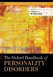 Chuck Sanislow, Liz Reagan '13 and Katie da Cruz '11 and  are co-authors of a chapter in this newly-published handbook on personality disorders.