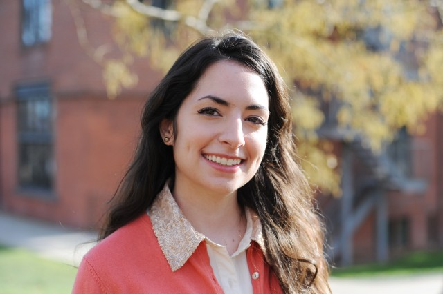 Dana Pellegrino '12 is the Civic Engagement Fellow for the Center for Community Partnerships and the Patricelli Center for Social Entrepreneurship. (Photo by Olivia Drake)