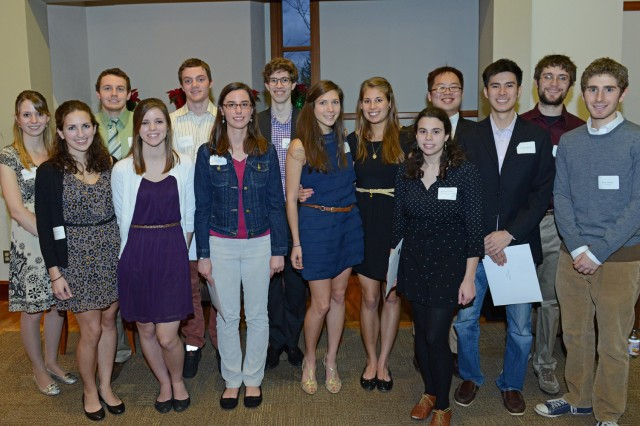 Fifteen seniors joined Phi Beta Kappa honor society on Dec. 5. (Photos by Olivia Drake)
