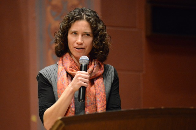 The event was emceed by Mary-Jane Rubenstein, associate professor of religion, associate professor of feminist, gender and sexuality studies.