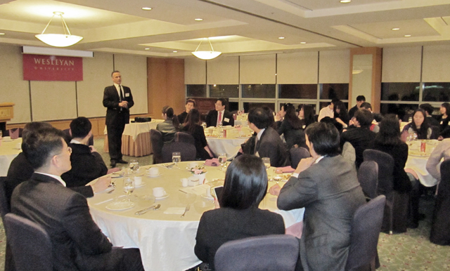 President Roth spoke to alumni at the Seoul Club in Seoul, Korea.