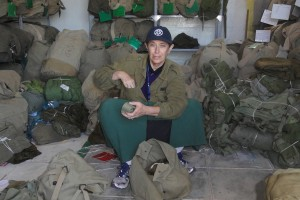  Vera Schwarcz packed duffle bags at a paratroopers' reservist base in Israel. 