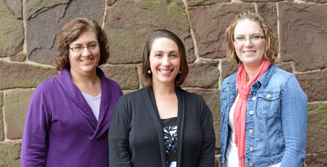 Jen Jurgen, Sharon Sarver and Ali McFadzen received Cardinal Achievement Awards .