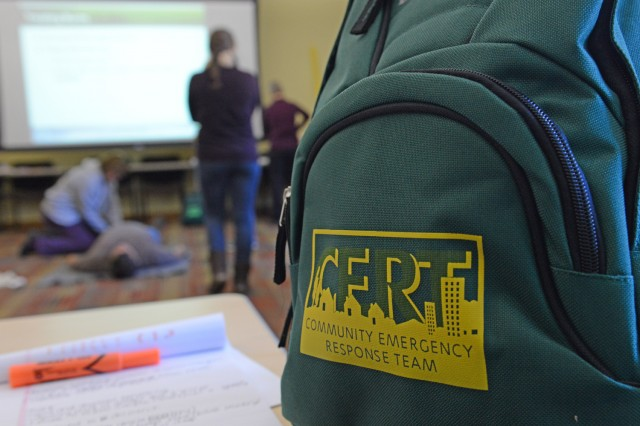 All C-CERT participants received a backpack containing a helmet, safety goggles, tools, a blanket, a first-aid kit and more. 