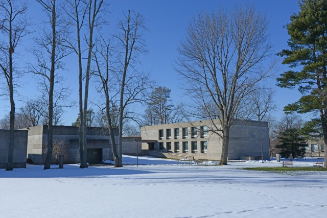 Snow and sunshine at the Center for the Arts on Jan. 7.
