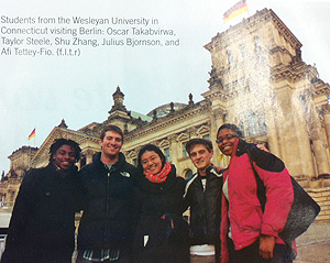 Wesleyan students in Berlin.