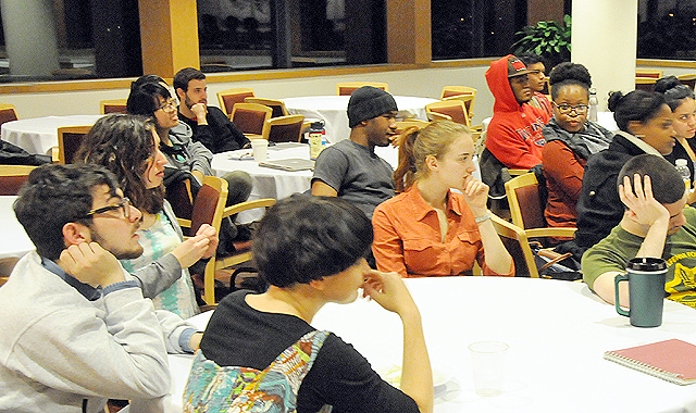 "In celebration of Black History Month, the Wesleyan Student Assembly Committee for Inclusion and Diversity hosted ""Allyship in a Post-Racial Society"" on Feb. 19."