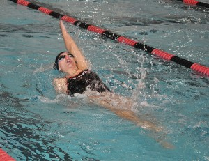 Angela Slevin '15 is a record-setting swimmer.