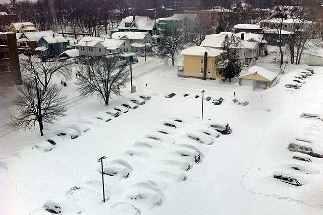 Anya Morgan '14 snapped this photo of buried cars near Church Street from the High Rise Residences on Feb. 9.