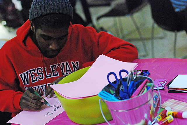The Usdan Center Activities Board hosted a craft-making event in honor of Valentine's Day on Feb. 14.