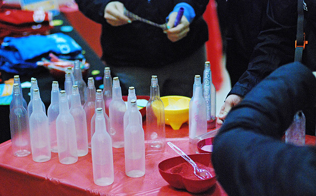 """Students wrote their own notes and made a """"message-in-a-bottle."""""""