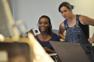 At right, Kate Ten Eyk, visiting assistant professor of art, art studio technician for the Center for the Arts, will teach Drawing I during the Wesleyan Summer Session. For five weeks, enrolled high school students may take this course alongside Wesleyan students to earn full college credit.