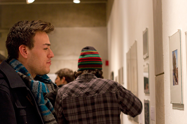 Dozens of students, including Matthew Alvarez '14, attended the Be The Art opening.