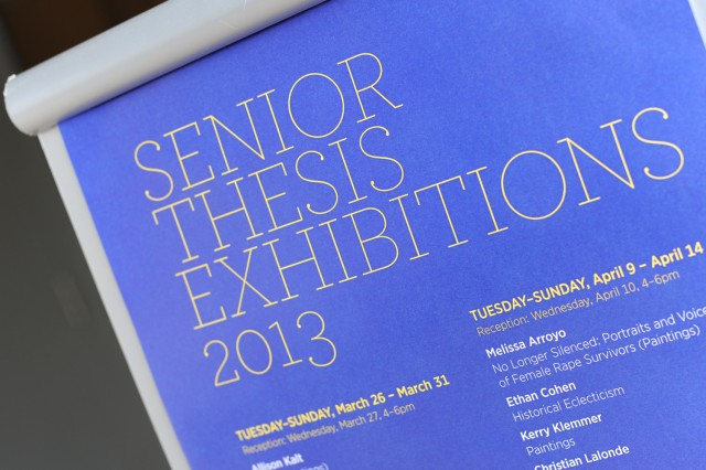 "View the talents of the seniors in the Art Studio Program of Wesleyan's Department of Art and Art History. The ""Senior Thesis Exhibition"" runs March 26-April 21 in the Zilkha Gallery."