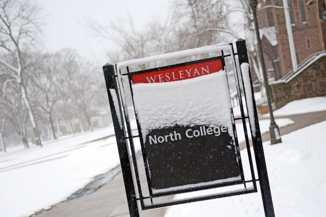 Spring weather, you're a tease! Welcome back to wintry Wesleyan March 7.