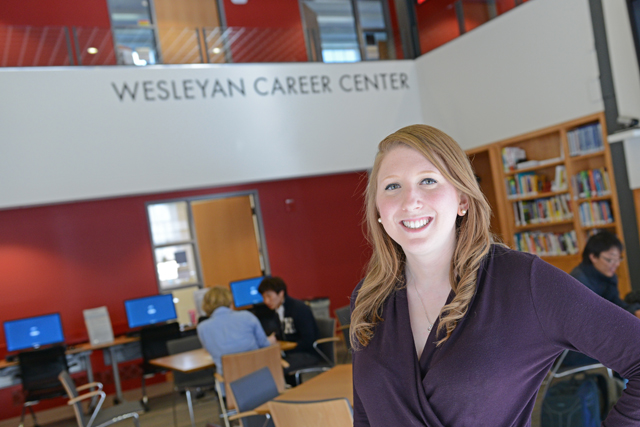 Rachel Berman is the operations and communications coordinator for the Wesleyan Career Center.