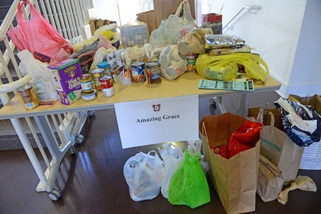 Many Taste of Middletown attendees donated non-perishable food items and cash to Middletown's Amazing Grace food pantry.  (Photos by Olivia Drake)