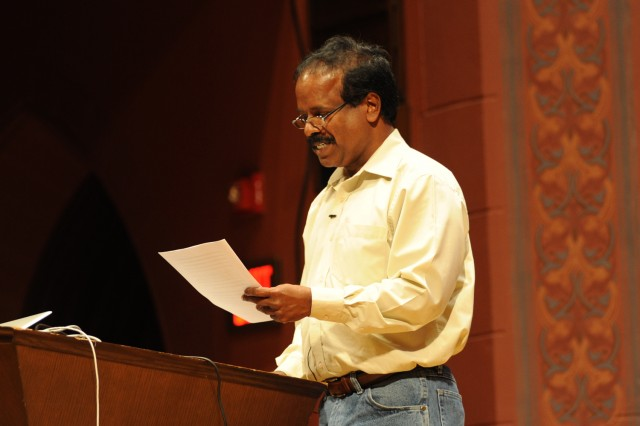 "Balu Balasubrahmaniyan, adjunct assistant professor of music, spoke on ""Periyar': E.V.Ramasamy and Social Activism in India."""