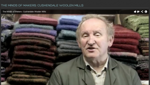 "Piers Gelly '13 and Daniel Nass '13 documented how the Cushendale Woolen Mills in Ireland uses turn-of-the-century manufacturing techniques to produce fine wool. The film is one of nine documentaries featured in the ""Mind of Makers"" series."