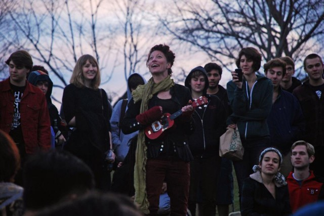Amanda Palmer '98 performed live at Wesleyan's Humanity Festival, a one-day musical celebration in solidarity against bigotry, racism and social divisions within a community. The student-run event was held on Foss Hill on April 13.