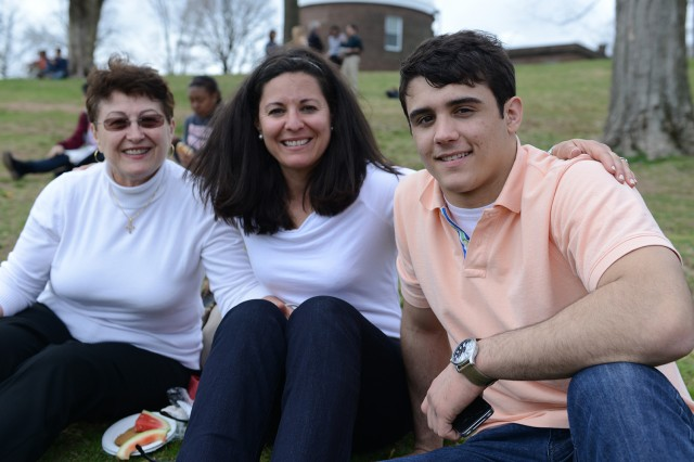 James Kellner of Verona, N.J. attended WesFest with his mother, Michele Kellner, and grandmother, Maria Montoto.
