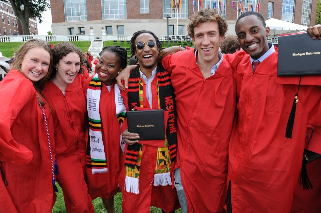Wesleyan awarded 785 bachelor degrees to the Class of 2013.