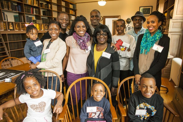 WES FAMILY! Five Wesleyan graduates in the same family, including two married couples, attended Reunion & Commencement Weekend festivities last week with their children. The Holder family's extended family members are: Alfonso and Perla Holder P'93, P'98, P'08; Tameir Holder '08; Tarik Holder '98; Tanya Holder '98; Tnyetta (Holder) Mitchell '93; and Maxroy Mitchell '92.