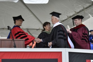 Jim Dresser '63 was awarded an honorary degree on May 26.